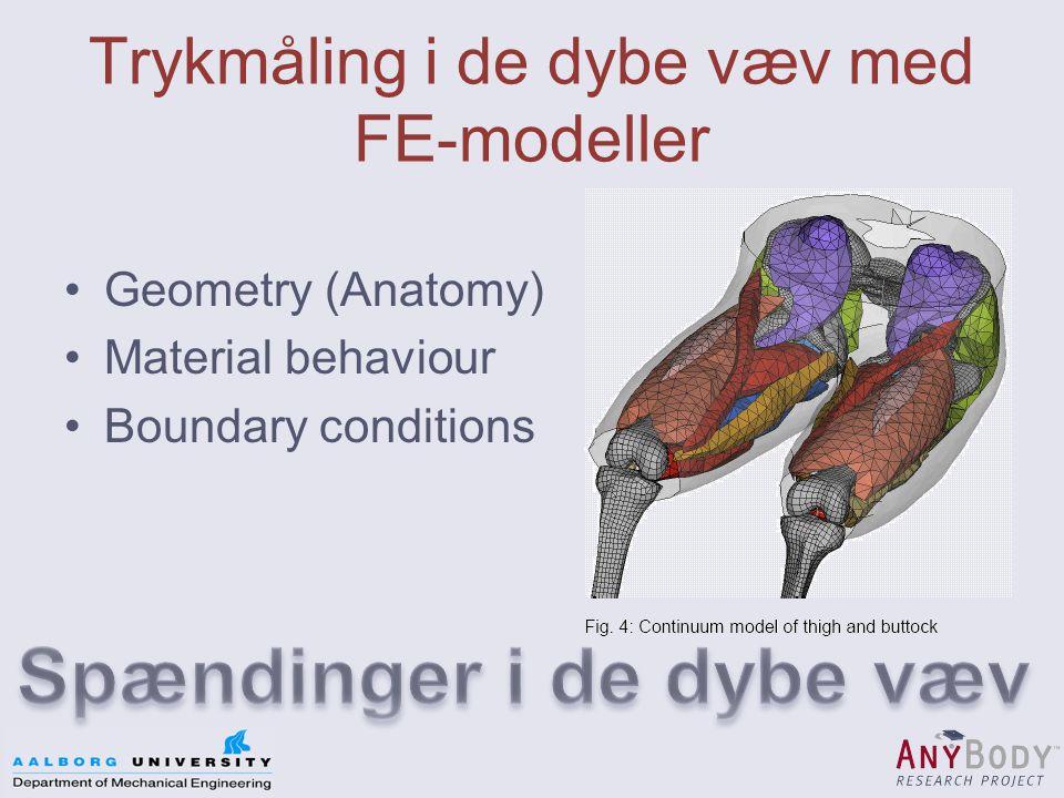 Trykmåling i de dybe væv med FE-modeller