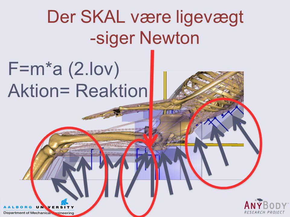 Der SKAL være ligevægt -siger Newton