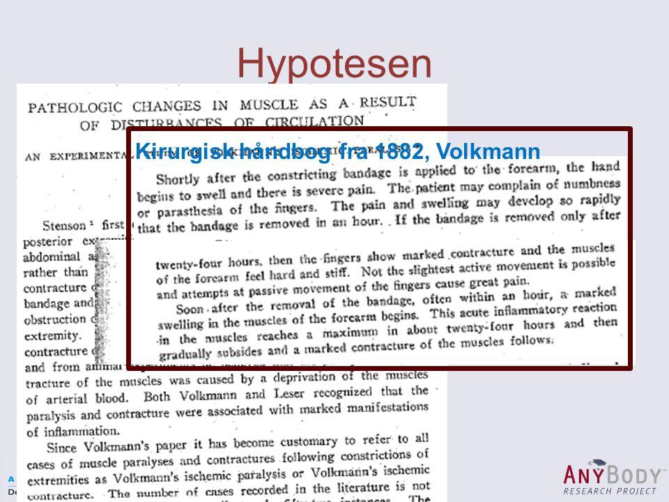 Hypotesen Kirurgisk håndbog fra 1882, Volkmann