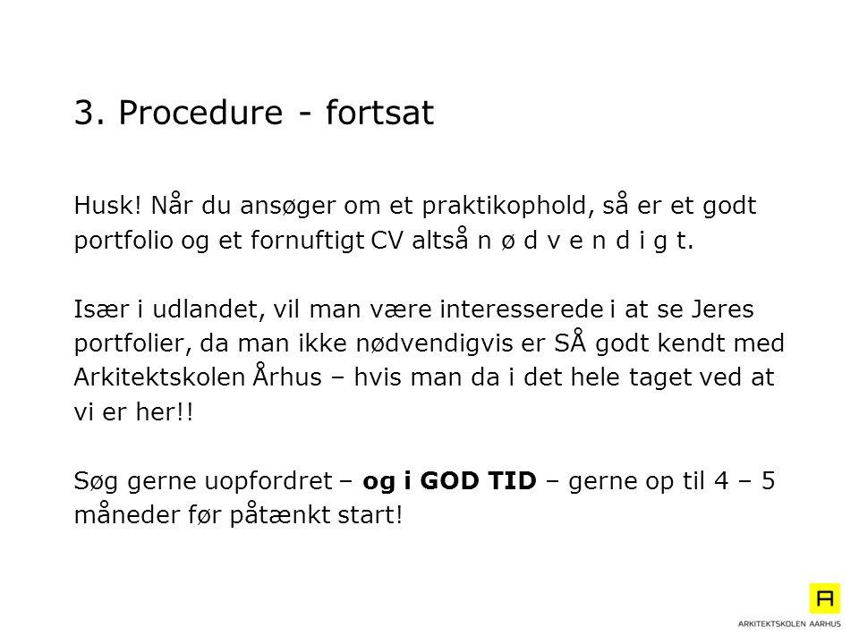 3. Procedure - fortsat