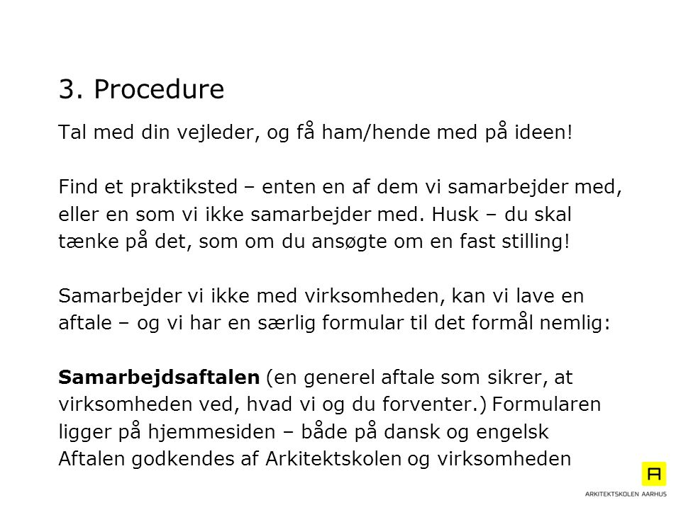 3. Procedure