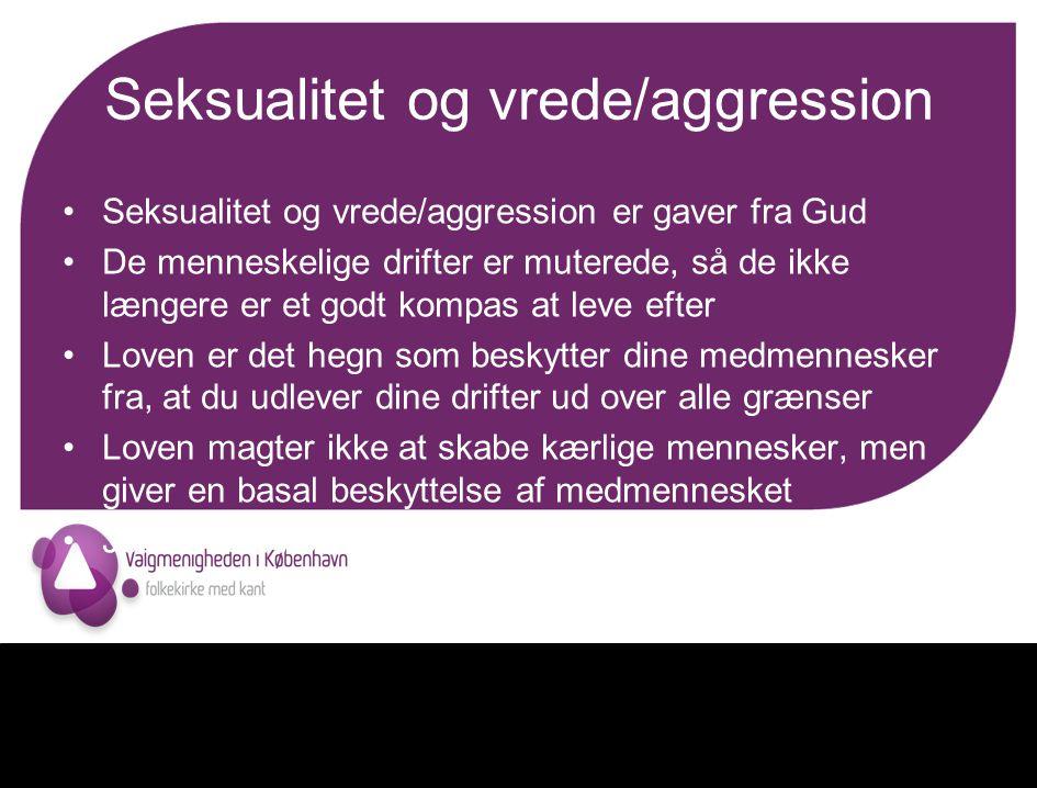 Seksualitet og vrede/aggression
