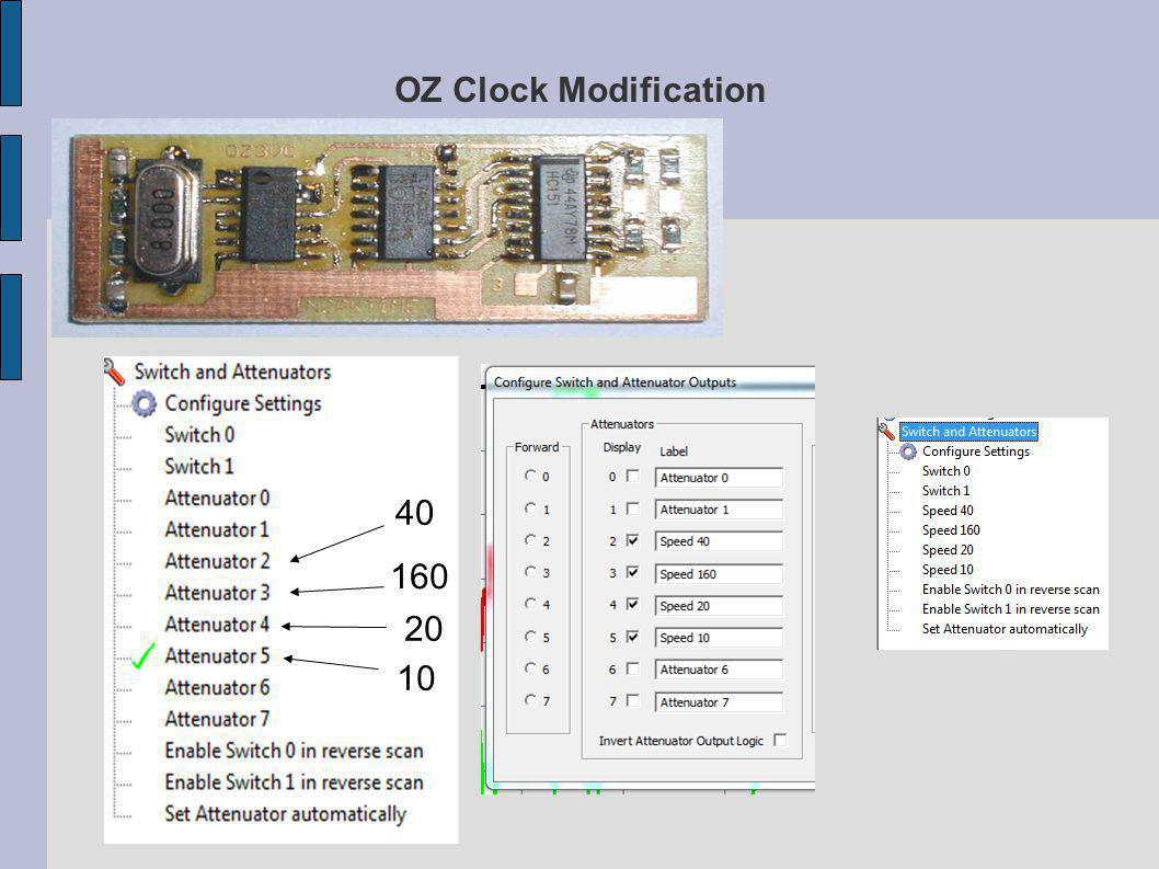 OZ Clock Modification 40 160 20 10