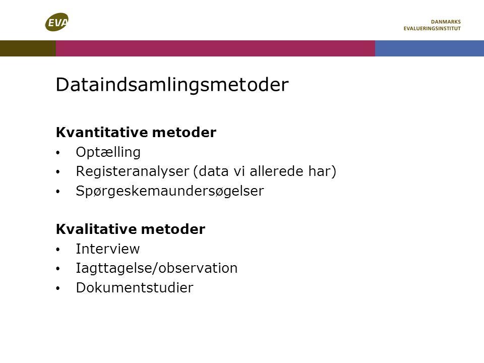Dataindsamlingsmetoder