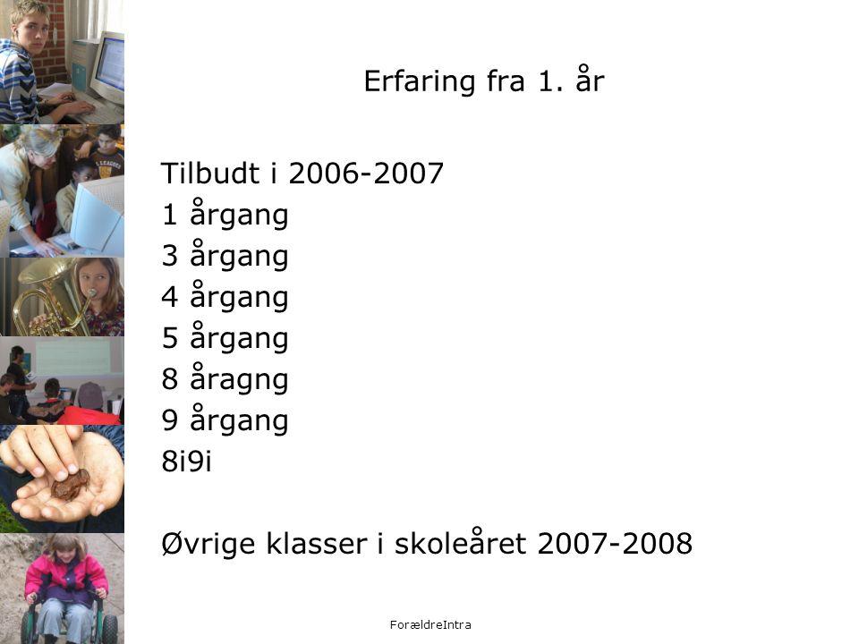 Øvrige klasser i skoleåret 2007-2008