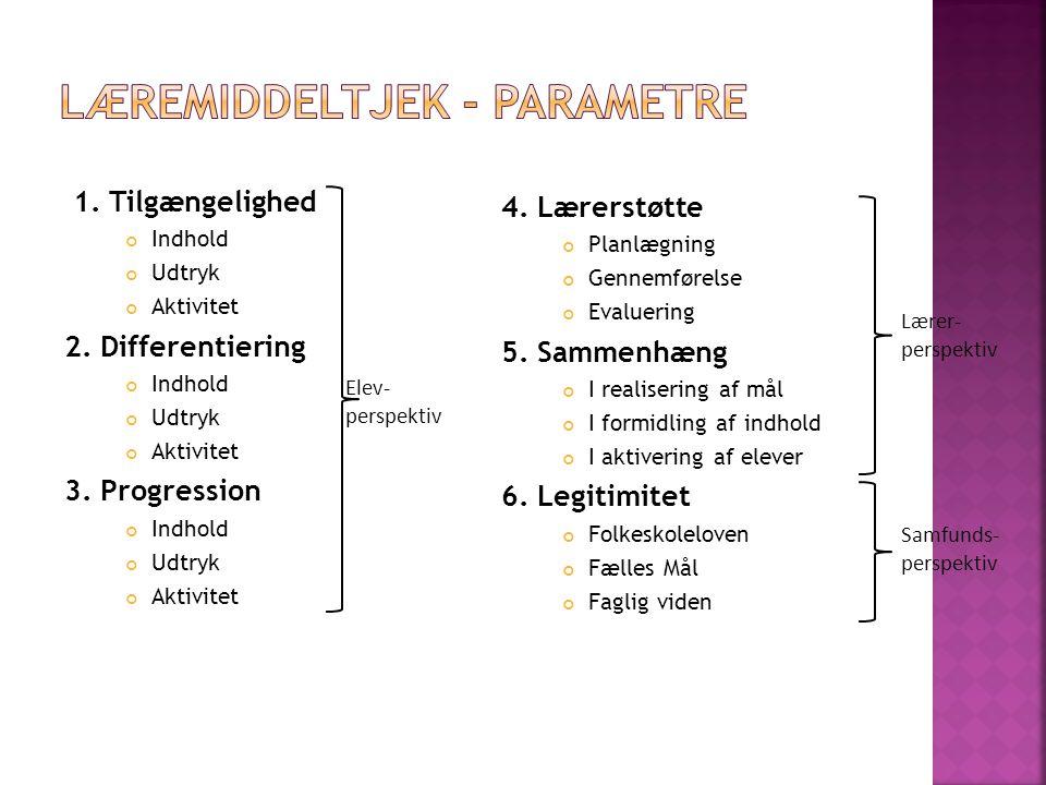 Læremiddeltjek - parametre
