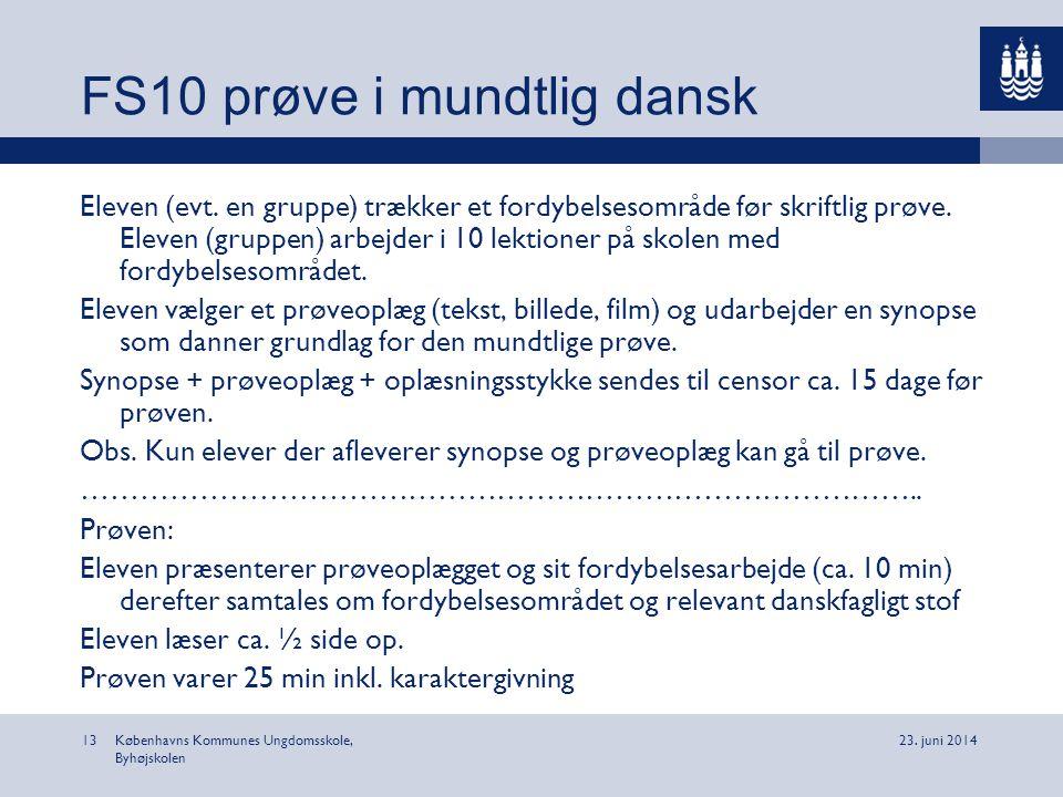 FS10 prøve i mundtlig dansk