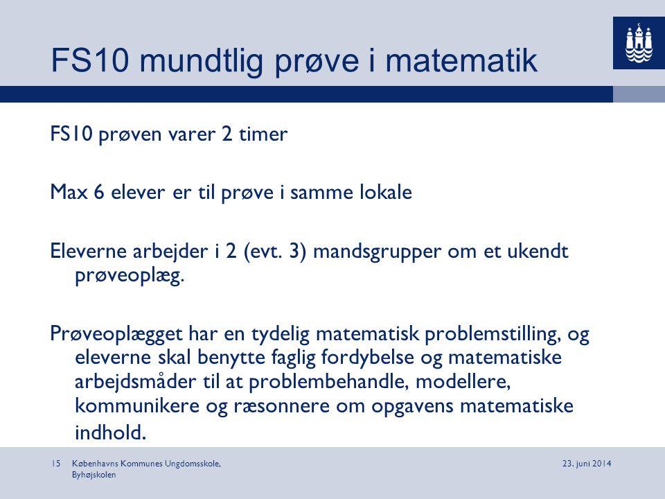 FS10 mundtlig prøve i matematik
