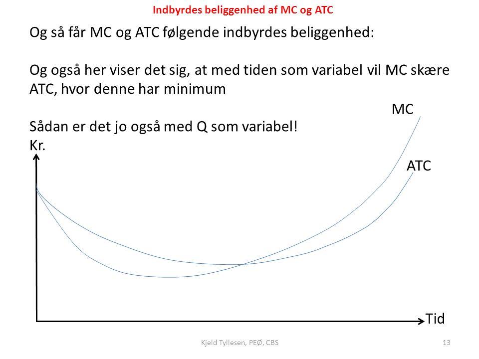 Indbyrdes beliggenhed af MC og ATC