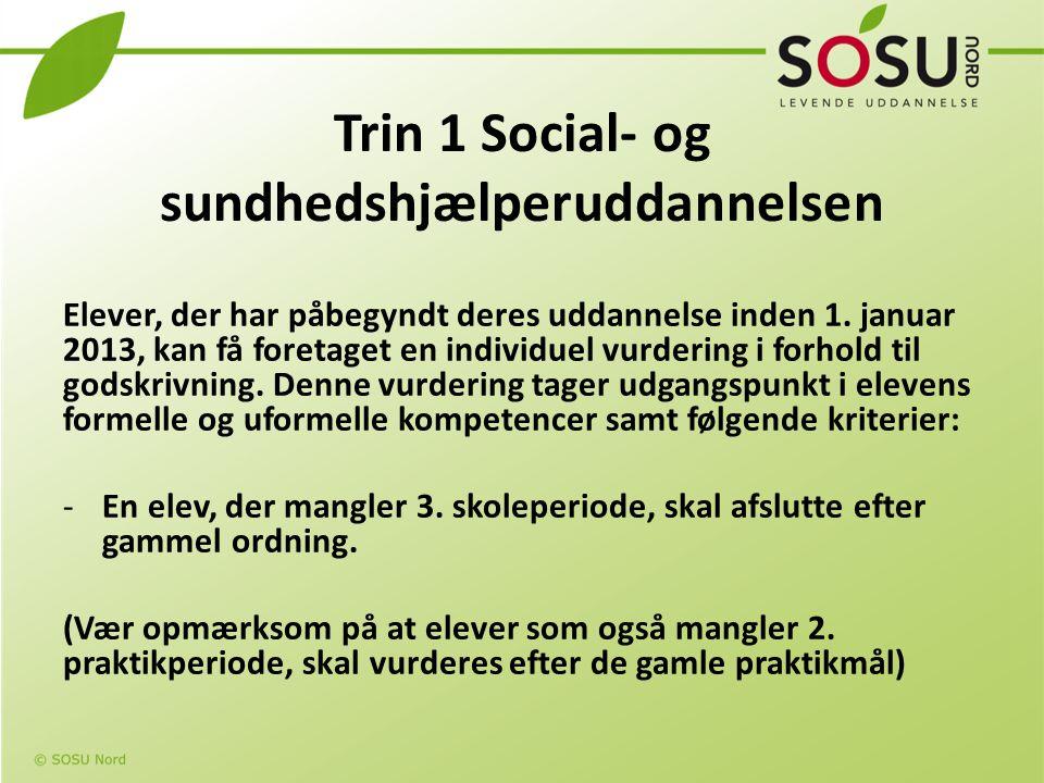 Trin 1 Social- og sundhedshjælperuddannelsen