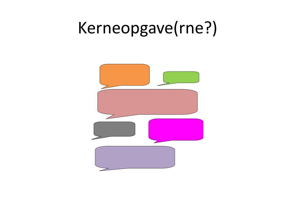 Kerneopgave(rne )