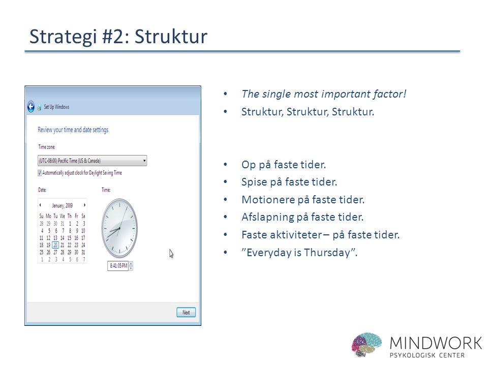 Strategi #2: Struktur The single most important factor!