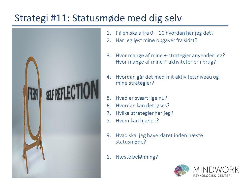 Strategi #11: Statusmøde med dig selv