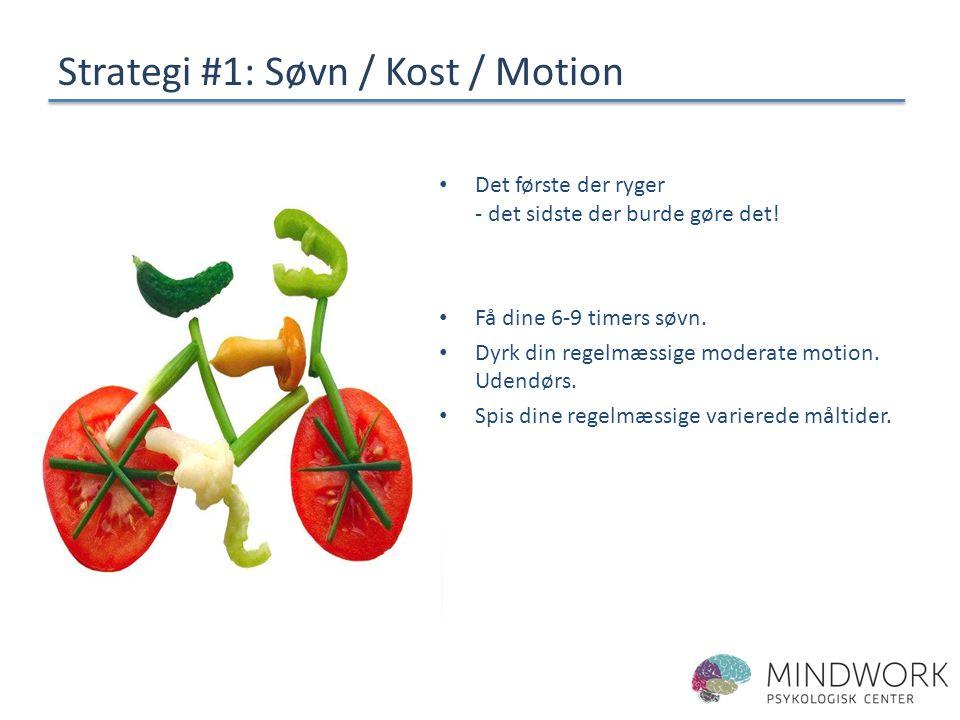 Strategi #1: Søvn / Kost / Motion