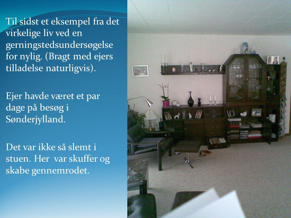 Ejer havde været et par dage på besøg i Sønderjylland.