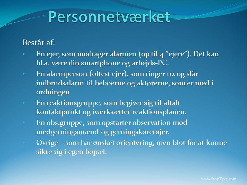Personnetværket Består af: