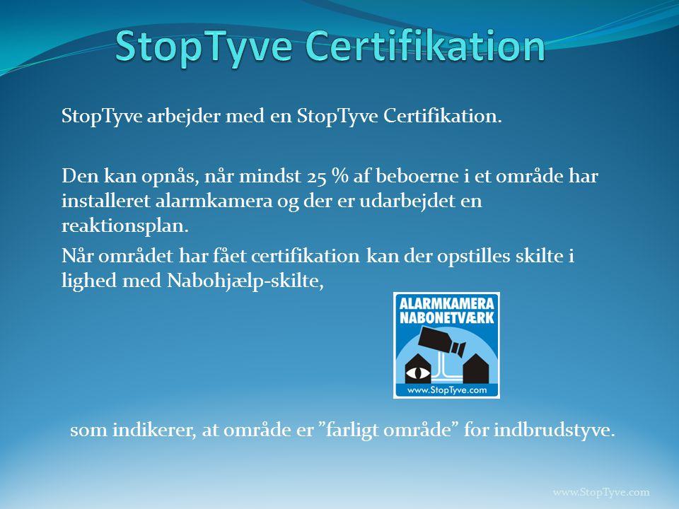 StopTyve Certifikation
