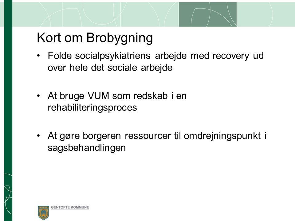 Kort om Brobygning Folde socialpsykiatriens arbejde med recovery ud over hele det sociale arbejde.