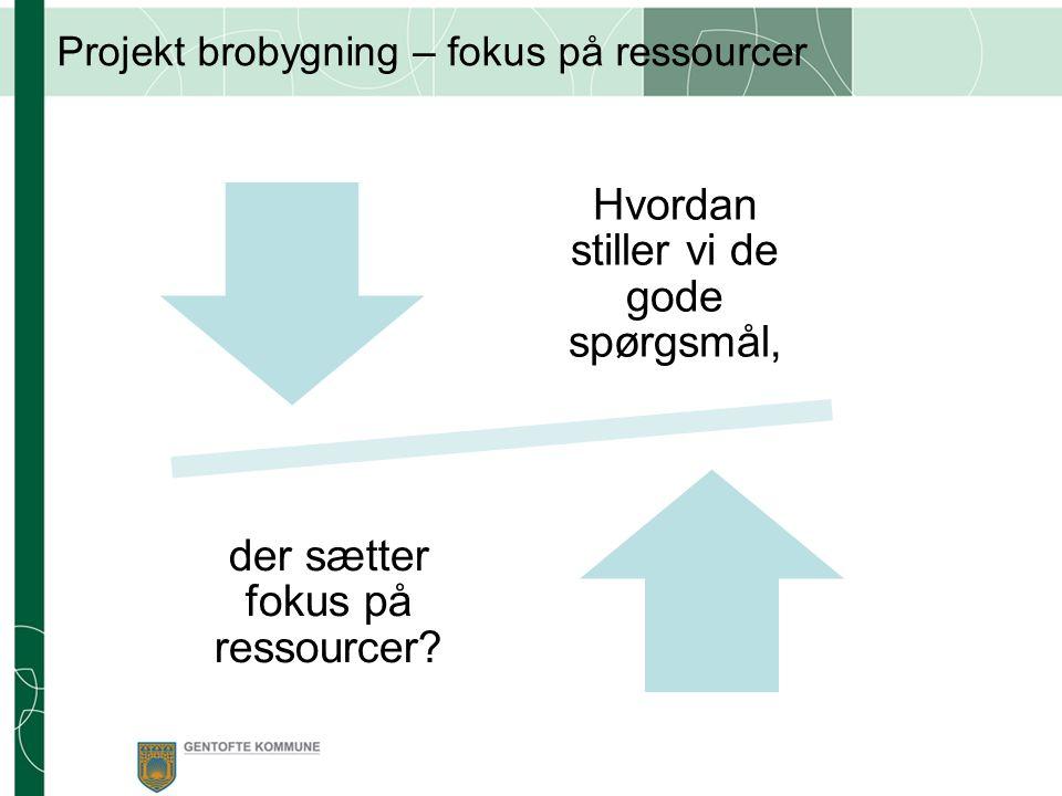 Projekt brobygning – fokus på ressourcer