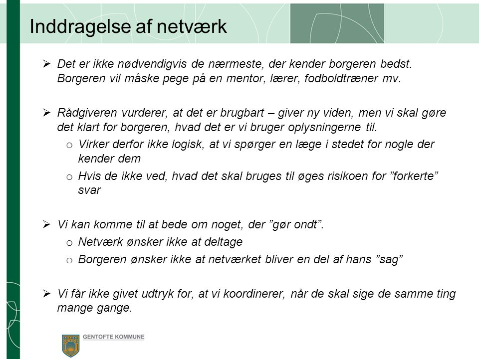 Inddragelse af netværk