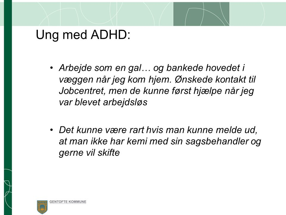 Ung med ADHD: