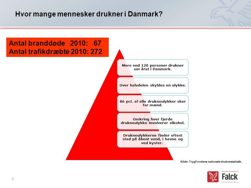 Hvor mange mennesker drukner i Danmark