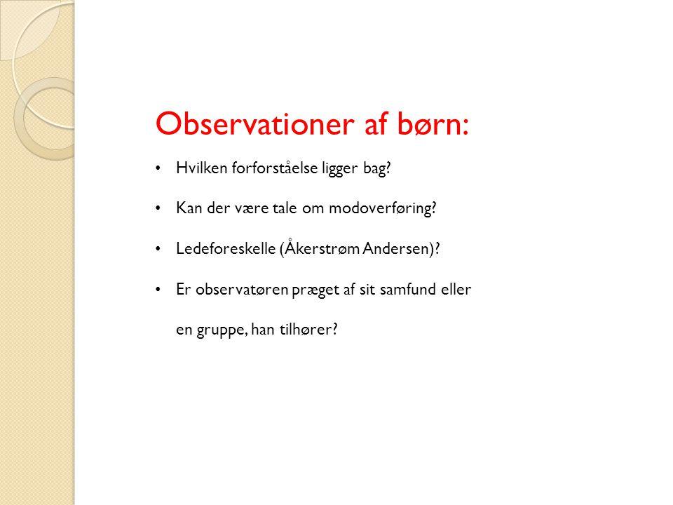Observationer af børn: