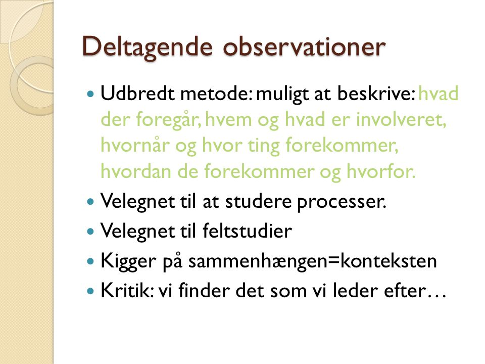 Deltagende observationer