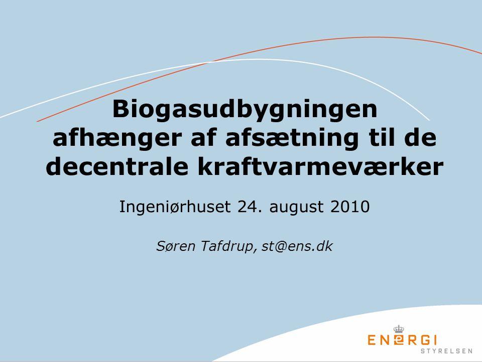 Biogasudbygningen afhænger af afsætning til de decentrale kraftvarmeværker Ingeniørhuset 24.