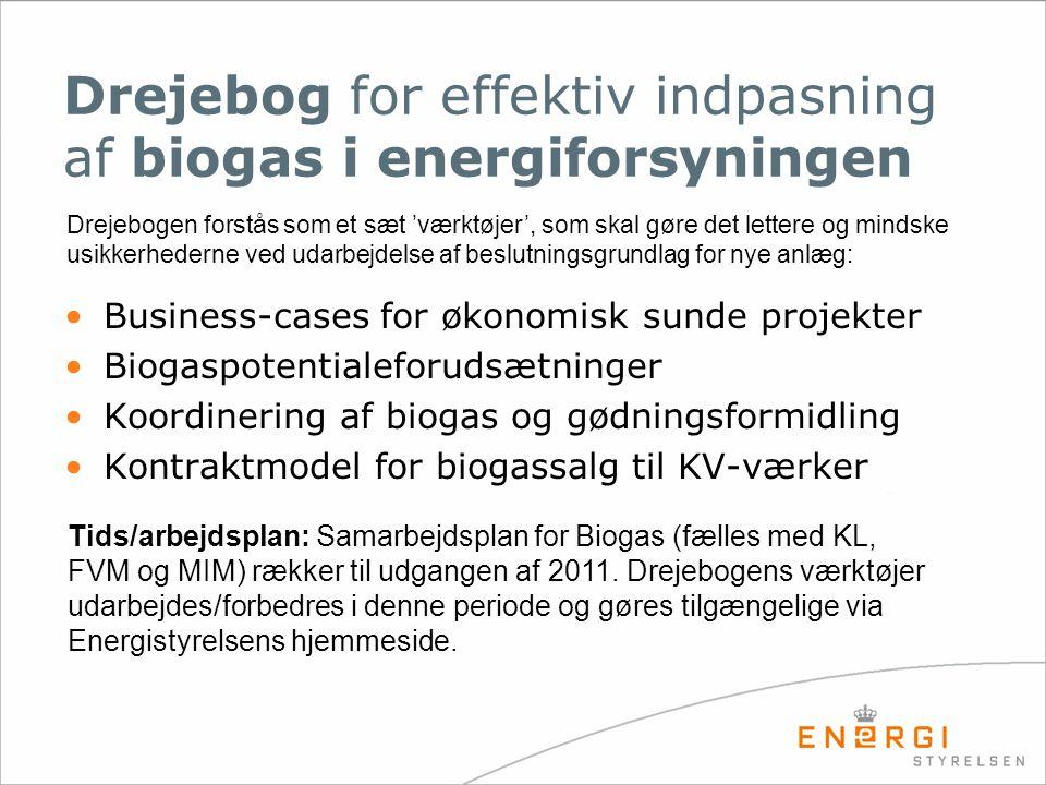 Drejebog for effektiv indpasning af biogas i energiforsyningen