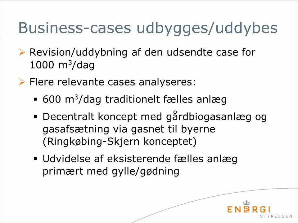 Business-cases udbygges/uddybes