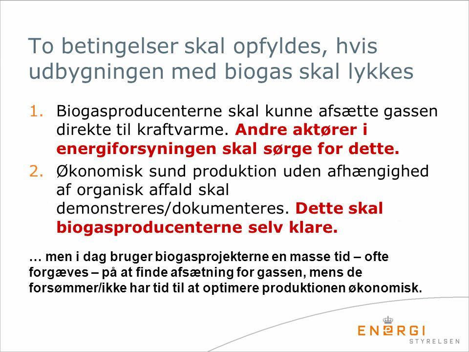 To betingelser skal opfyldes, hvis udbygningen med biogas skal lykkes