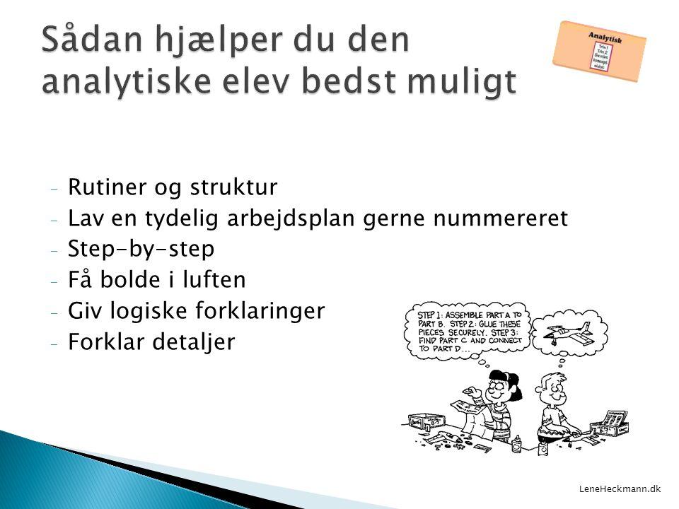 Sådan hjælper du den analytiske elev bedst muligt