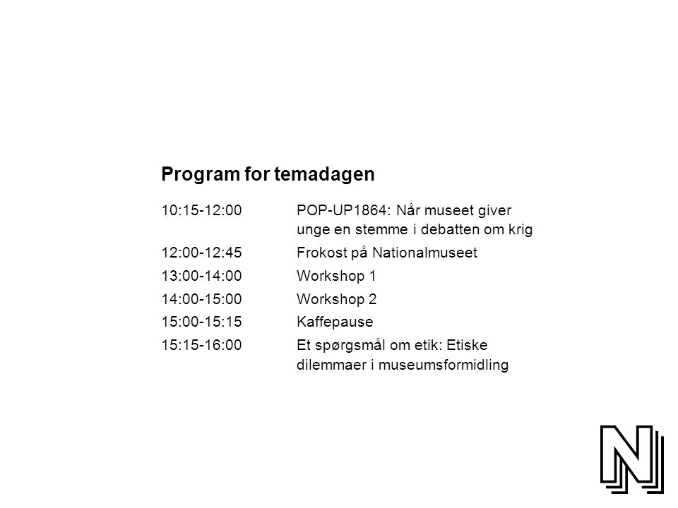 Program for temadagen