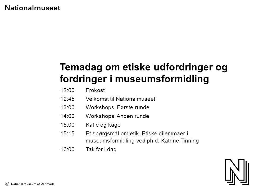 Temadag om etiske udfordringer og fordringer i museumsformidling