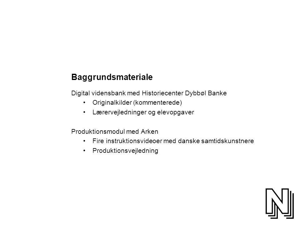 Baggrundsmateriale Digital vidensbank med Historiecenter Dybbøl Banke