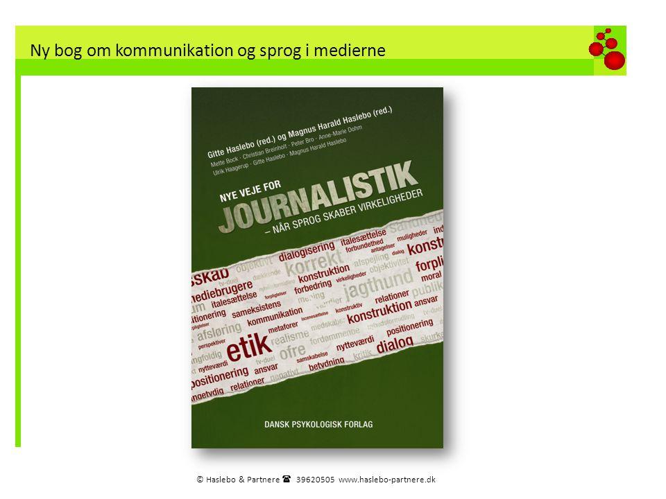Ny bog om kommunikation og sprog i medierne