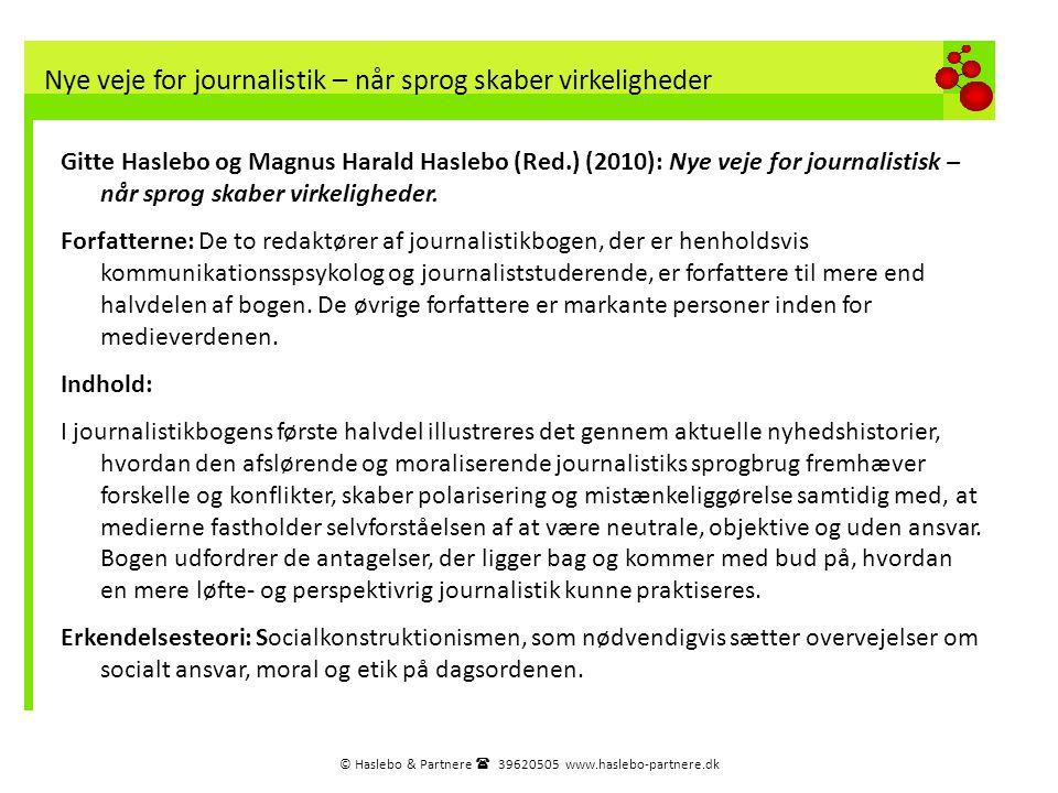 Nye veje for journalistik – når sprog skaber virkeligheder
