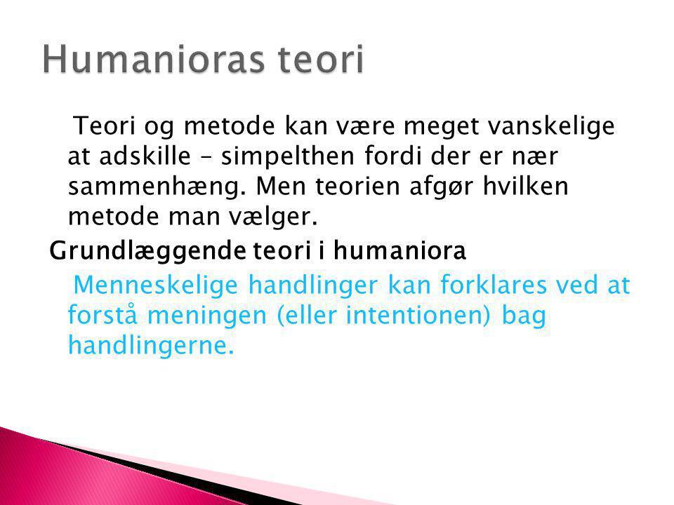 Humanioras teori