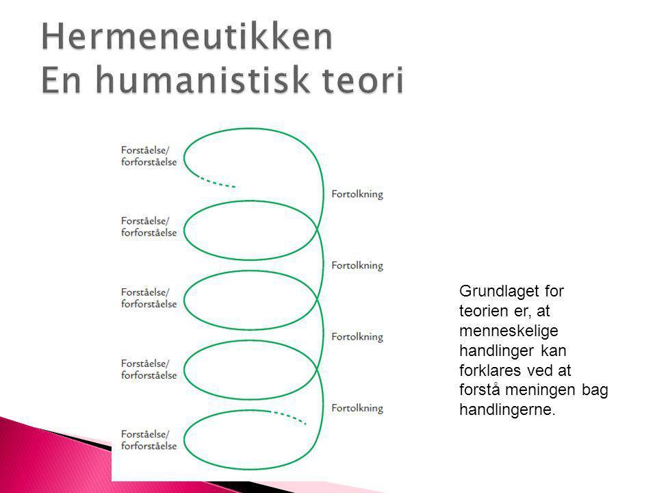 Hermeneutikken En humanistisk teori