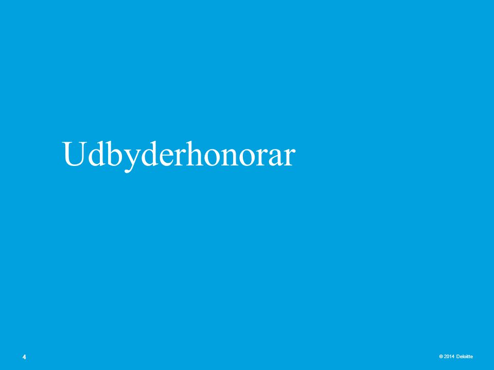 Udbyderhonorar