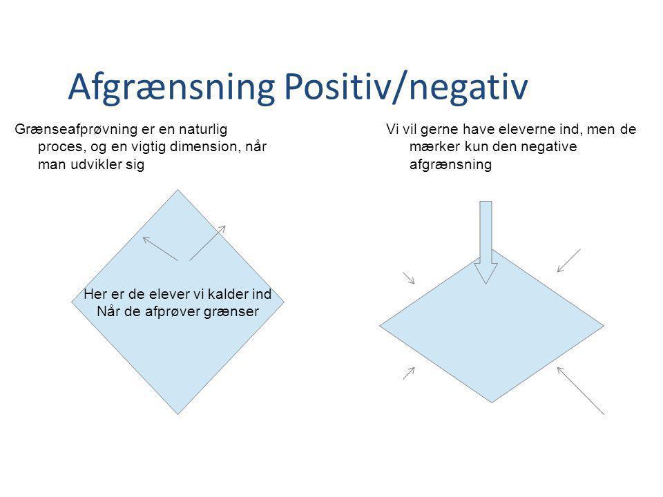 Afgrænsning Positiv/negativ
