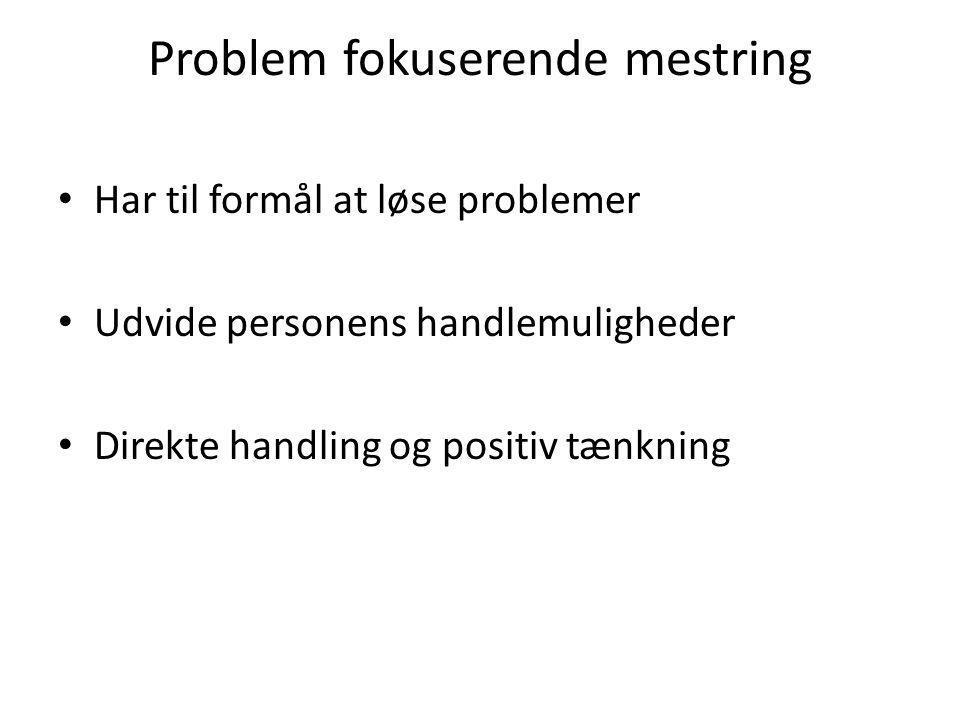 Problem fokuserende mestring
