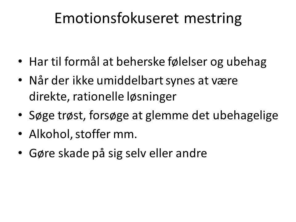 Emotionsfokuseret mestring