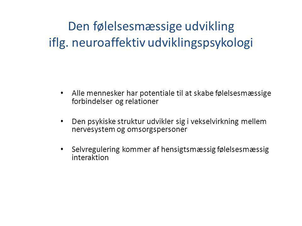 Den følelsesmæssige udvikling iflg. neuroaffektiv udviklingspsykologi