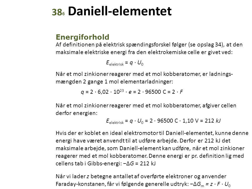 386 Daniell-elementet Energiforhold