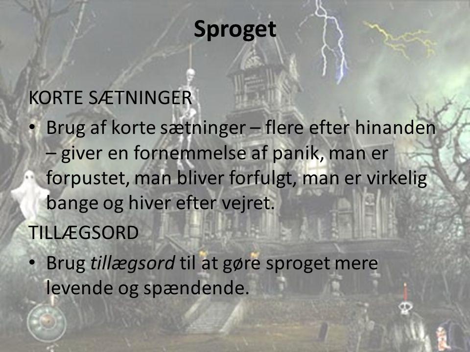 Sproget KORTE SÆTNINGER