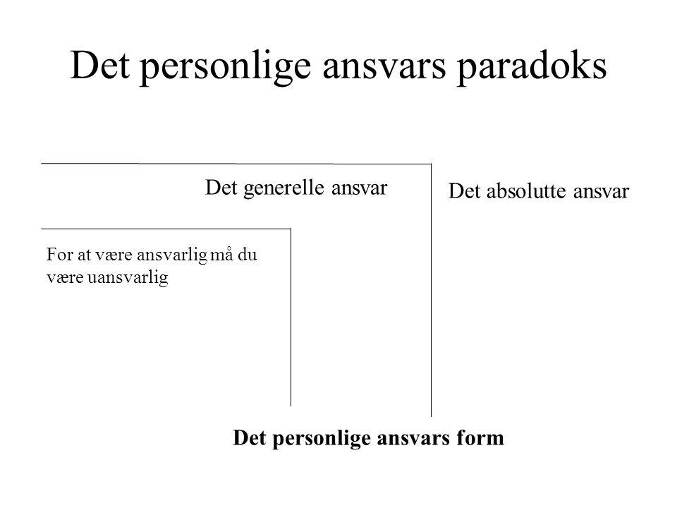 Det personlige ansvars paradoks
