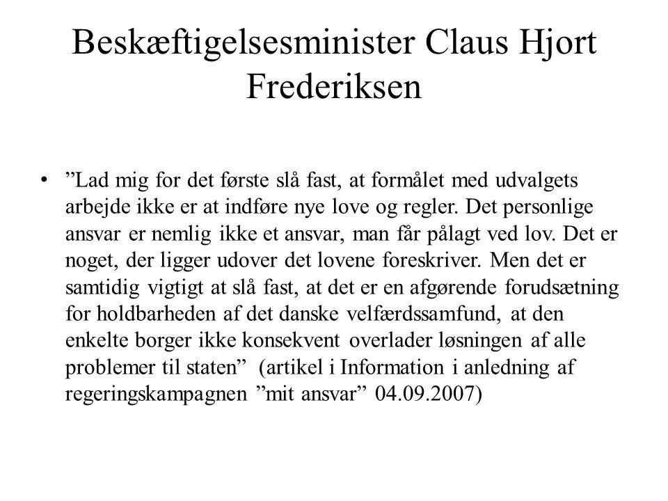 Beskæftigelsesminister Claus Hjort Frederiksen