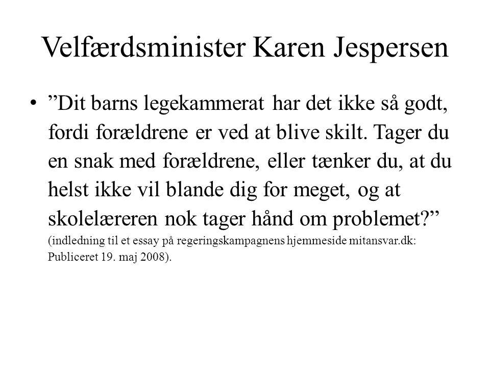Velfærdsminister Karen Jespersen